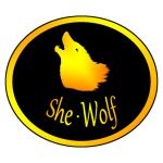 She-Wolf Logo White Background